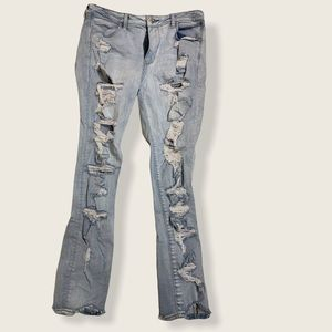 Size 14 Distressed American Eagle Skinny Jeans